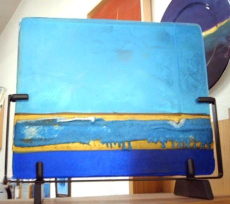 Scultura in vetro di Murano, cm 38x30