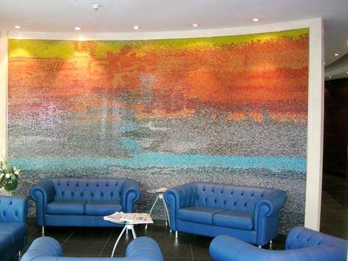 Hotel Concordia, San Possidonio (Modena), mosaico in vetro, cm 500x400