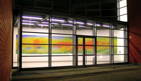Mosaico Corassori, Modena, mosaico in vetro, cm 1100x200 (veduta dall'esterno)