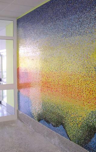 Nuovo Ospedale di Baggiovara (Modena), mosaico in vetro, cm 350x300