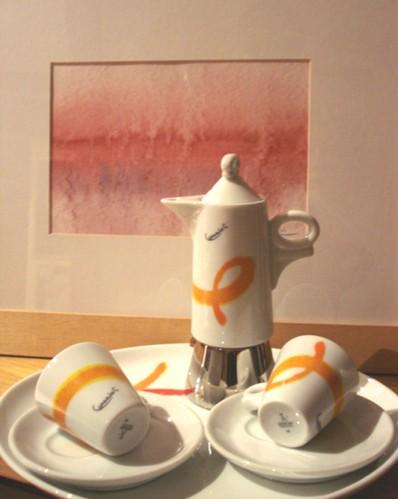 Set composto da tazzione e caffettiera