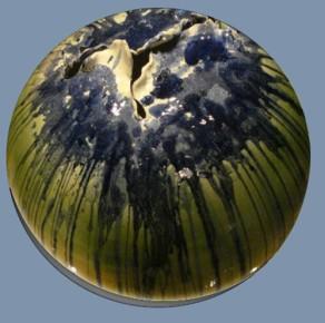 Globo, ceramica e ossidi, diametro cm 60