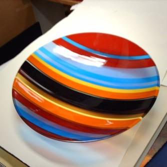 Piatto in vetro di Murano, diametro cm 60