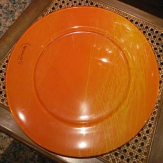 Segnaposto in vetro dipinto, diametro cm 32