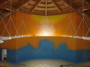 L'opera di Erio Carnevali nella nuova Chiesa dei SS. Francesco e Chiara a Castellaneta (TA), marzo 2013, a pittura terminata