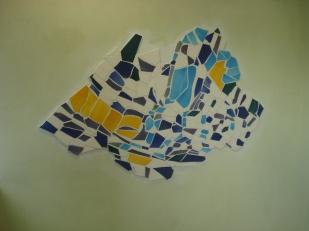 Uno dei pannelli musivi di Erio Carnevali per la nuova sede di CPL Concordia