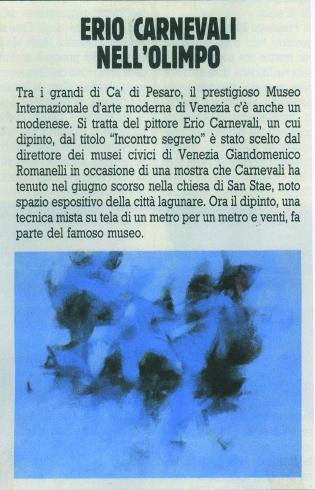 'Incontro segreto' scelto per la collezione del Museo di Ca' Pesaro, Venezia